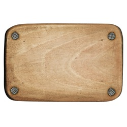 Wooden plaque attached with nails
