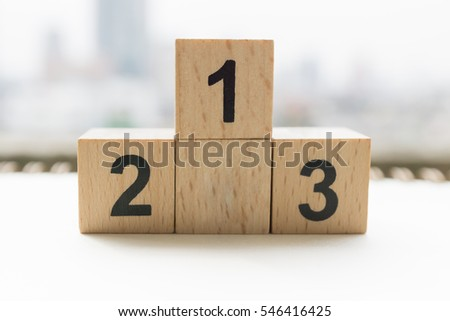 wooden podium standing on white background #546416425