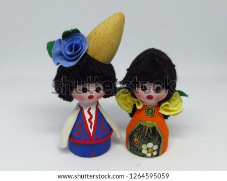 Wooden puppets, spouse #1264595059