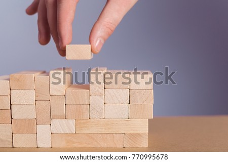 Wooden puzzles concept