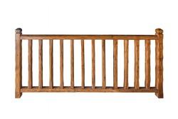 Wooden railing isolated on white background