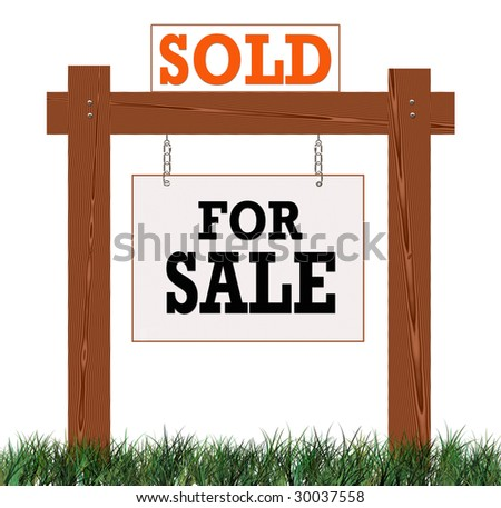 Home Sold Sign Sign With Sold Sign Rider