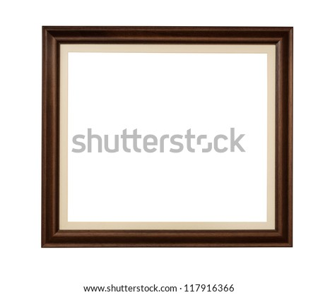 Wooden rectangle picture frame with mount