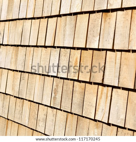 wooden roof plates close-up