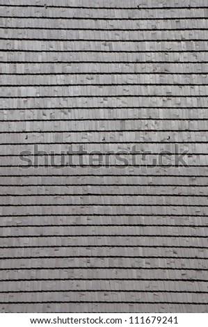 Wooden roof shingle