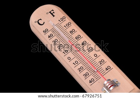 Fahrenheitcelsius thermometer to label