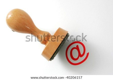 Wooden rubber stamp - internet law.
