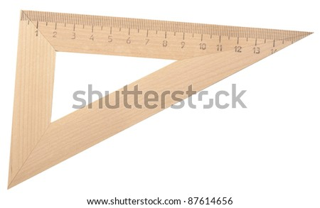 wooden ruler isolated on white