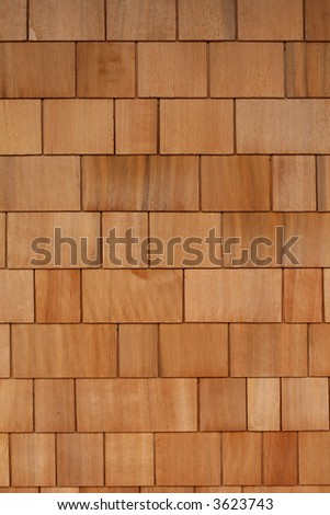 Wooden Shingles Background Texture - stock photo