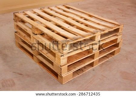 wooden shipping pallet in standard dimensions, wooden pallet.