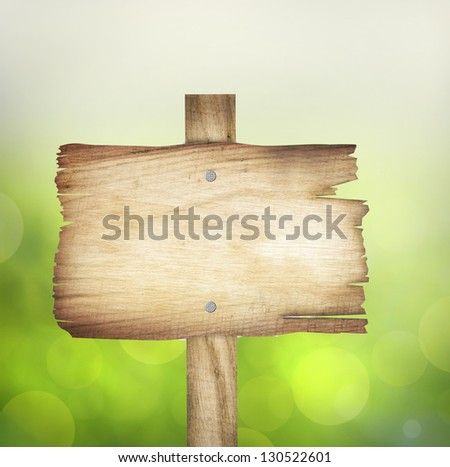 wooden sign background with