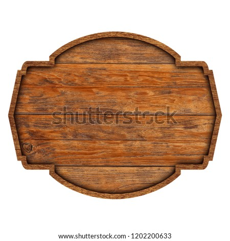 Wooden sign boards isolated on white background with objects clipping path for design work stock photo