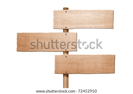 Wooden sign isolated #72452950