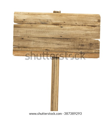 Wooden sign isolated on white. Stock foto ©