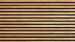Wooden slats. Natural wood lath line arrange pattern texture background          - Image
