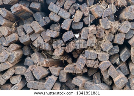 Wooden sleepers for rail  #1341851861