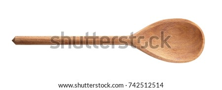 Wooden spoon on white background #742512514