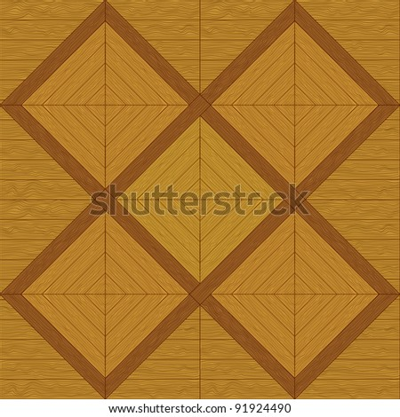 Wooden square brown parquet, seamless background