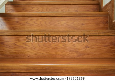 wooden staircase interior in the modern house