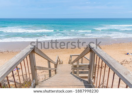 Wooden staircase leading to a beach at Lorne, Australia Stock photo ©