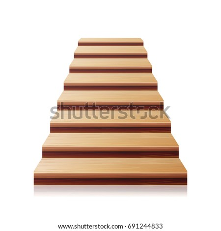 wooden staircase. realistic...