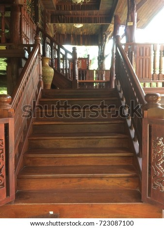 Wooden stairs #723087100