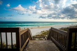 Wooden Stairs at the Beach in Destin Florida