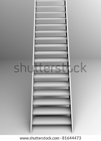 Wooden stairs. 3d illustration. Concept of success