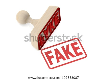 Wooden stamp with fake word