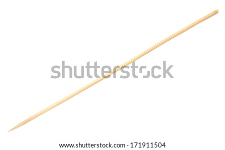 wooden stick isolated on white