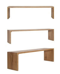 Wooden Stool bench on white background