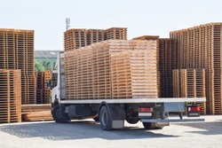 wooden substrates for moving and transporting goods. Warehousing pallets for the movement of goods.