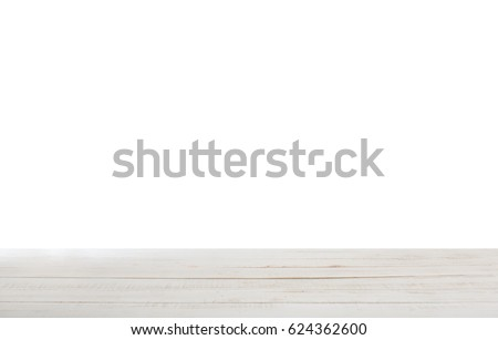 wooden table background  white...
