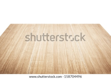 Wooden table isolated on white #158704496
