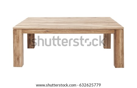 Wooden table isolated on white background #632625779