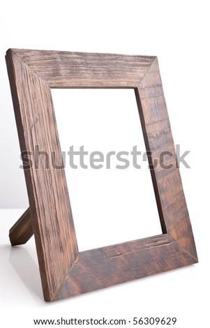 Wooden table photo frame (side view)