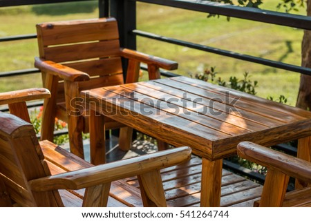 Wooden Tables and chairs for relaxing
