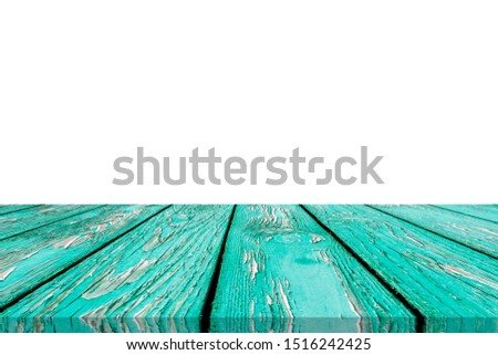 Wooden tabletop on white background. Empty rustic wood table.  #1516242425