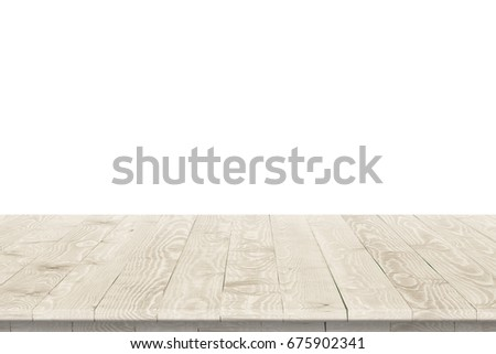 Shutterstock Wooden tabletop perspective for product placement or montage with focus to table. Wooden board surface.