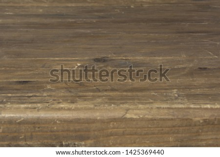 Wooden tabletop with a thick tabletop in perspective #1425369440