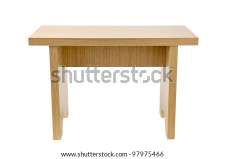 wooden  tabouret isolated on white background