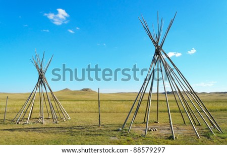 wooden teepee supports