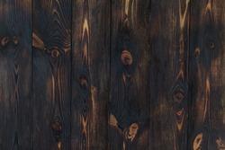 Wooden texture background. burnt wood