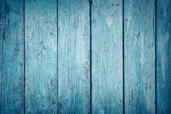 Wooden texture background toned in blue color. Concept of wallpaper, background, billboard.