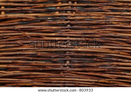 Wooden texture of little branches