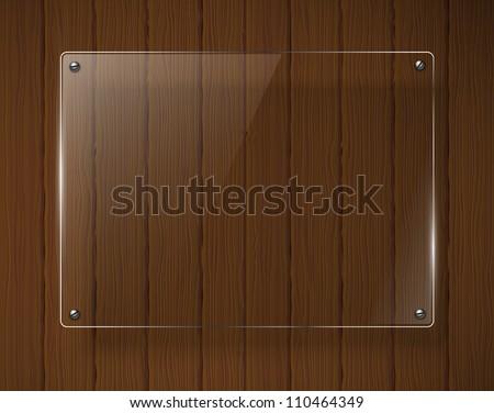 Wooden texture with glass framework. Jpeg version.