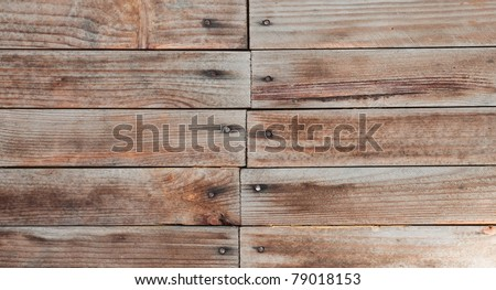 Wooden timber with nails can use for background