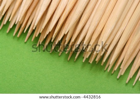 Wooden Toothpick with sharp ends