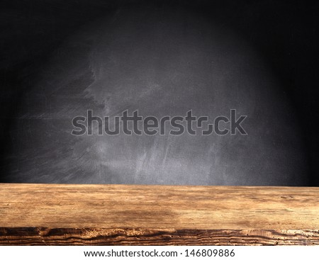wooden top and dark space