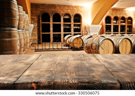 wooden top barrels and space